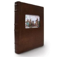$36.25 Leather bound photo album. Anniversary gift for the traditionalist. {2 Pack Old Town Leather Photo Albums Hold 300 photos - Burgundy}
