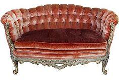 Lovely vintage velvet sofa