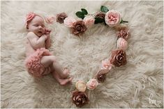 baby girl in heart flower Newborn Photography Props, Newborn Photographer, Photography Ideas, Newborn Pictures, Floral Wreath, Heart Flower, Baby, Beautiful, Newborn Monthly Photos