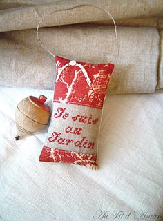 Je suis au Jardin Decoration, Linens, Christmas Stockings, Language, Etsy, Throw Pillows, French, Couture, Holiday Decor