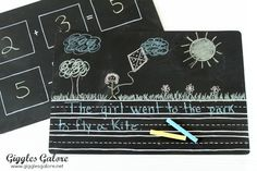 Chalkboard Placemats | 37 Awesome DIYs To Make Before School Starts