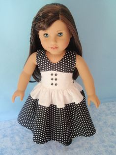 American Girl Doll 1950s Style Doll Dress 18 Inch Doll Clothes Fifties Fashion