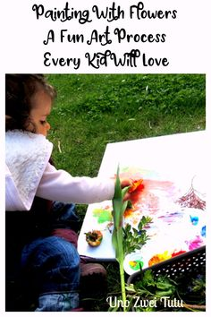 Looking for a fun process art project to make this spring or summer? Painting with flowers is a great way to get in touch with nature. This activity is sure to be a hit with young children.