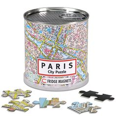 GeoToys - Paris Jigsaw Puzzle 100-Piece - Magnetic Puzzle for Geography Game and Learning Cities and Countries of the World
