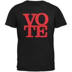Election Vote Stacked Black Adult T-Shirt