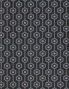 Papier peint ROBIN 100% intissé motif graphique irisé, noir - Peinture et Papier Peint -
