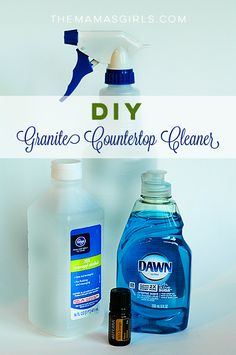 DIY Granite Countertop Cleaner Granite Countertop Cleaner, Homemade Granite Cleaner, Cleaners Homemade, Diy