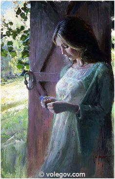 Gallery of artist Vladimir Volegov, portraits of very beautiful women. Art Gallery, Art Painting, Fine Art, Figure Painting, Painting, Female Art, Art, Figurative Art, Beauty In Art