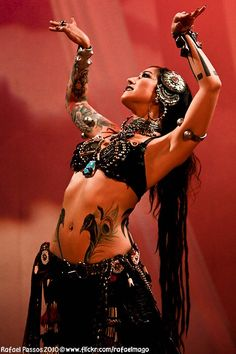 Tribal Belly Dance Tattoo