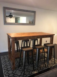 """Find out even more info on """"bar furniture ideas"""". Visit our site. Bar Height Kitchen Table, Patio Bar Table, Bar Table Sets, A Table, White Bar Table, Deck Bar, Pub Tables, Kitchen Tables, Bar Chairs"""