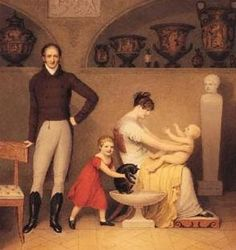 Adam Buck, Self portrait with wife and children, 1813.