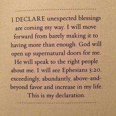 I Declare and Decree!