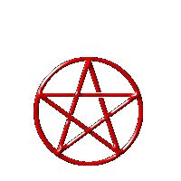 red pentacle-pagan graphics from the web of old