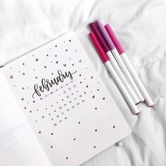 Another adorable Febuary set up  by @letteringwithleni  #notebooktherapy