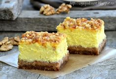 Cheesecake with caramelized walnuts.