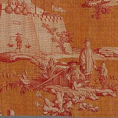 """Textile, """"The Chinese"""", ca. 1810"""