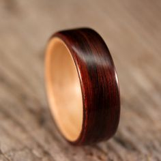 All the wood rings from this etsy shop are gorgeous. All of them. Damn, wood is sexy.