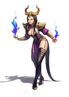 sorceress, jiyun lim on ArtStation at https://www.artstation.com/artwork/owrvL - More at https://pinterest.com/supergirlsart #female #fantasy #art