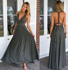 Long dress transformer infinity dress boho by HappyTogetherForever
