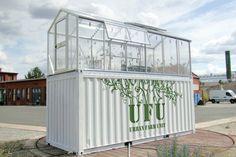 Unidades Urbanas agrícolas transforman viejos containers en Invernaderos de productos orgánicos