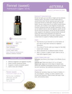 Fennel Essential Oil #doterra #essentialoil #fennel