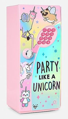 Party Like a Unicorn Mini Locker Unicorn Fashion, Unicorn Outfit, Unicorn Makeup, Cute Unicorn, Unicorn Party, Unicorn Birthday, Rainbow Unicorn, Unicorn Rooms, Unicorn Room Decor