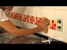 Antes e depois do banheiro - Pastilhas adesivas resinadas - Parceria MMilan - YouTube