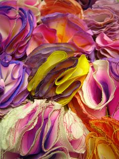 Beautiful handmade textile ruffles are the definition of wearable art! #inspiration