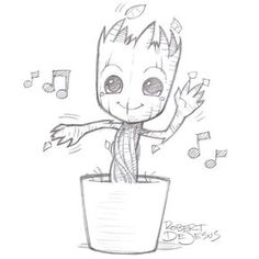 Groot from Banzchan on deviantART - this person makes really great time ., Dancing Groot from Banzchan on deviantART - this person makes really great time ., Dancing Groot from Banzchan on deviantART - this person makes really great time . Drawing Skills, Drawing Sketches, Drawing Ideas, Sketching, Pencil Drawing Tutorials, Drawing Tips, Cute Drawings, Awesome Drawings, Hipster Drawings