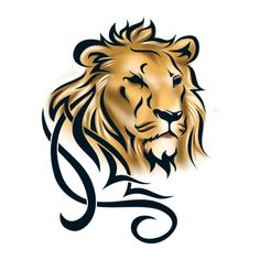 Tattoo image is not actual size Leo Lion Tattoos, Tribal Lion Tattoo, Lion Tattoo Design, Lion Design, Henna Tattoo Designs, Girl Drawing Sketches, Love Drawings, Animal Drawings, Simple Lion Tattoo