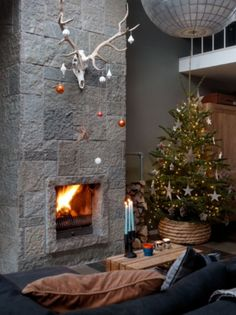 "This amazing fireplace is from our feature ""Festive Looks"""