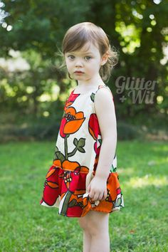 Charlie dress by Glitter and Wit, Mingo & Grace pattern.