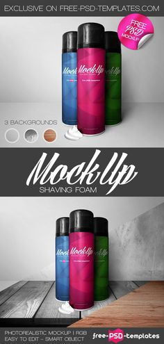 Free Shaving Foam Mockup PSD | Free PSD Templates | #free #photoshop #mockup #psd #shaving #foam Foam Packaging, Packaging Design, Mockup Templates, Templates Free, Free Photoshop, Free Stuff, Shaving, Artsy, Scene