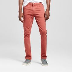 Men's Slim Fit Dye Red Wash Jeans