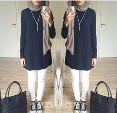 My favourite hijab style Islamic Fashion, Muslim Fashion, Modest Fashion, Hijab Fashion Inspiration, Mode Inspiration, Hijab Dress, Hijab Outfit, Modest Wear, Modest Dresses