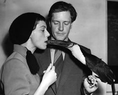 Gerald Durrell with his first wife Jacquie and a tucan, 1954.