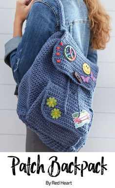 Patch Backpack free crochet pattern in comfort.