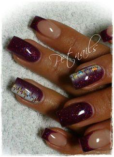 Life line plum nails