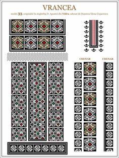 prin bunavointa lui Andrei Popa si a matusii sale Doamna Isfan Eva-Sybille, ce a primit acest Album ca premiu, in clasa a IV-a, prin anii... Cross Stitch Borders, Cross Stitching, Cross Stitch Patterns, Folk Embroidery, Embroidery Patterns, Moldova, Hama Beads, Beading Patterns, Pixel Art