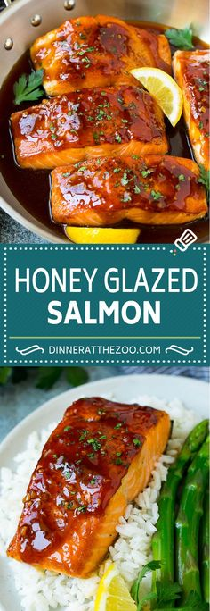 Baked Salmon With Honey Mustard And Pecan Panko Crust . Honey Glazed Salmon Dinner At The Zoo. Pan Seared Lemon Pepper Salmon The Recipe Critic. Home and Family Honey Glazed Salmon Recipe, Honey Salmon, Butter Salmon, Garlic Salmon, Recipe For Salmon And Shrimp, Lemon Butter, Fish Recipes, Seafood Recipes, Cooking Recipes