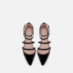 I can't do heels any more...Dressy, flat shoes. FLAT SHOES WITH ANKLE STRAP from Zara