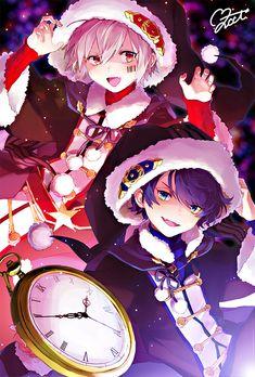 Black Christmas/after the rain Anime Neko, Kawaii Anime, Manga Anime, Cute Anime Boy, Anime Art Girl, Cool Animes, Mery Chrismas, Onii San, Anime Siblings