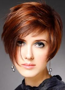Hair color short bob red Ideas for 2019 Edgy Short Hair, Short Hair With Layers, Short Hair Cuts For Women, Choppy Bob Hairstyles, Bob Hairstyles For Fine Hair, Short Hairstyles For Women, Medium Hair Styles, Short Hair Styles, Bobs For Thin Hair