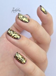 Colorful Stained Glass Nail Designs