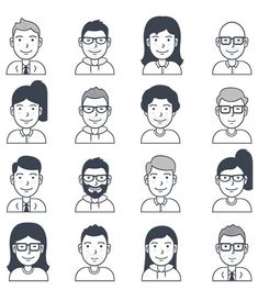 16 Free Vector User Avatar Icons - Icon People - Ideas of Icon People - 16 Free Vector User Avatar Icons Icons AI Avatar Character Free Graphic Design Icon Resource Vector Face Illustration, People Illustration, Character Illustration, Illustrations, Avatar Characters, Iconic Characters, Icon Design, Cover Design, Mountain Sketch