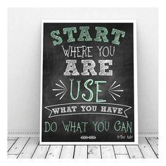 Motivational Poster, Instant Download, Chalkboard Art, Motivational Quote, Teen Art, Motivational Wall Decor, College Dorm Art