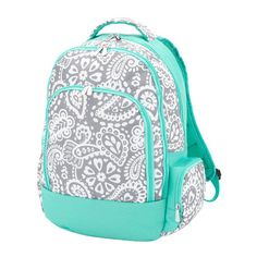 f1f7c4020ab6 Parker Paisley Backpack Mint Backpack