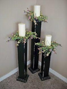 Lindo porta velas, ideales para una boda.