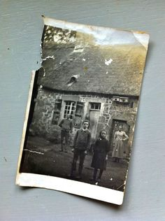 We bought a cottage in France! In the tiniest little hamlet, called Le Menil Scelleur. At the closing, when we signed the papers, the previous owners gave us this photo of the home circa 1900. I cried!