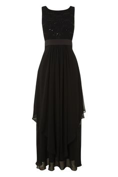 3105be7dc95 Roman Originals Women s Sequin and Lace Maxi Dress Black UK Size 10-20 - 10